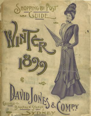 David Jones' winter mail-order catalogue from 1899.