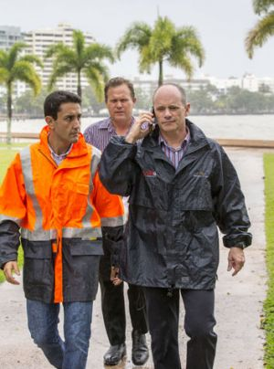 Queensland Minister for Local Government, Community Recovery and Resilience David Crisafulli (left) and Queensland ...