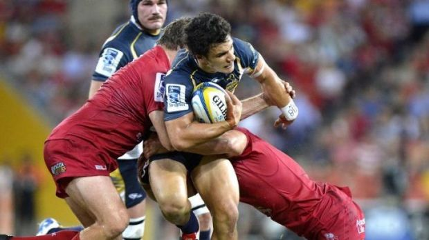 Food for thought: Matt Toomua was and the Brumbies held off the Reds on Friday night.