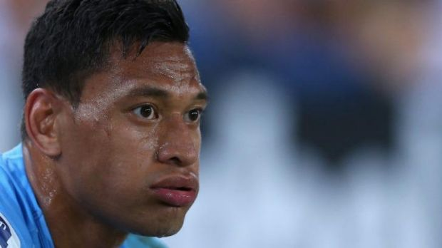 Ruled out: Israel Folau will not play for the Waratahs against the Force.
