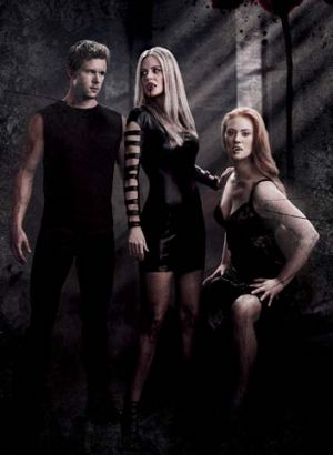 Ryan Kwanten, Kristen Bauer van Straten and Deborah Ann Woll in <i>True Blood</i>.
