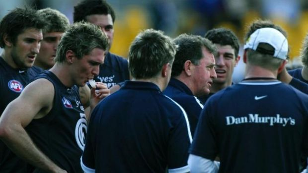 Denis Pagan coaches Carllton for the final time in 2007