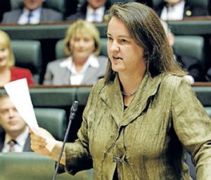 Addressing State Parliament, which she entered as the member for Doncaster in 2006.