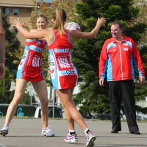 One out: Rob Wright watches his NSW Swifts go through their paces during a training session.