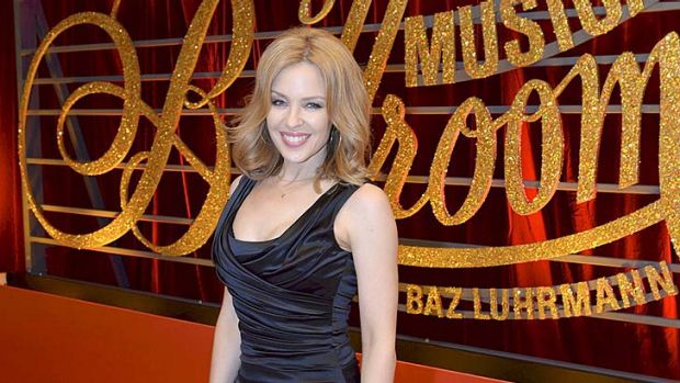 Grand entrance: Kylie Minogue attends the premiere of <em>Strictly Ballroom the Musical</em>.