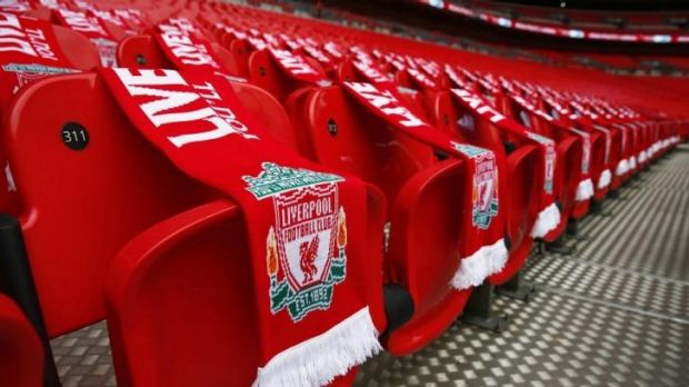 Ninety-six Liverpool scarves were placed on seats before the FA Cup semi-final match between Arsenal and Wigan Athletic ...
