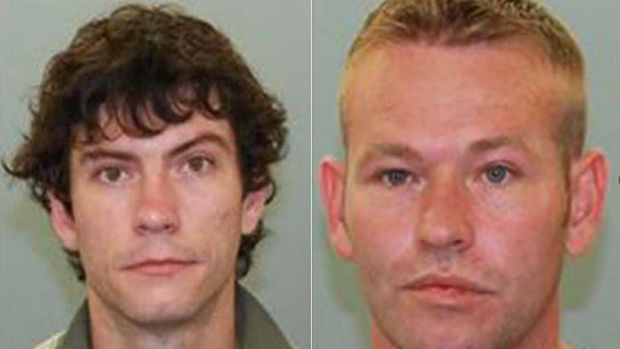 Bradley Thomas Kuhl (left) and Tony Dwaine Morgan have escaped from the low custody facility at Etna Creek.