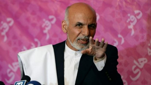 Ashraf Ghani has about 37.6 per cent of the vote, according to partial results released.