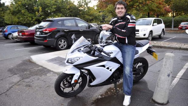 On your bike: Public servant, Nathan O'Brien, of Nicholls, has recently bought a motorcycle to avoid Parliamentary ...