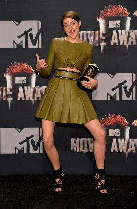 Actress Shailene Woodley ... winner of the favorite character award for <i>Divergent</i> at the 2014 MTV Movie Awards.