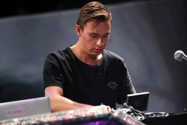 Australian producer Flume (aka Harley Streten) on the decks.