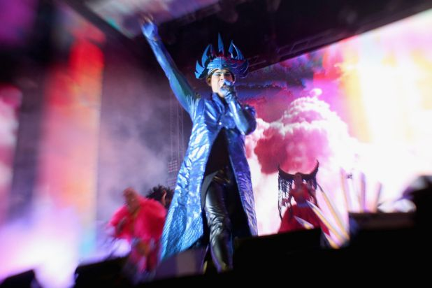 Luke Steele of Australian electro-pop group Empire of the Sun.