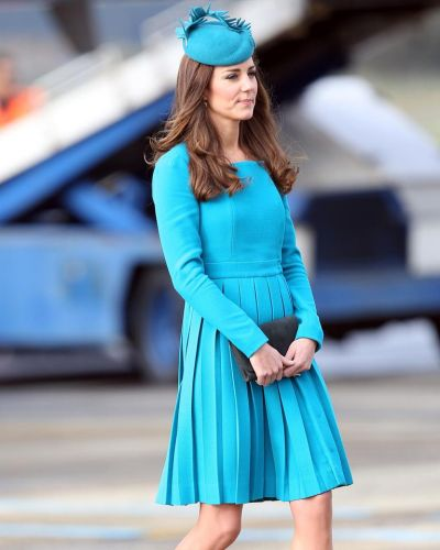 Catherine, Duchess of Cambridge walks across the tarmac at Dunedin International Airport on April 13, 2014 in Dunedin, ...