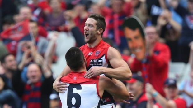 James Frawley and Chris Dawes  ran amok in the Melbourne forward line against Carlton.