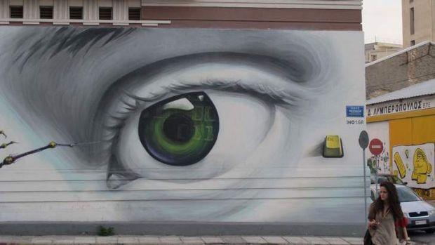Landry's favourite Athens graffiti.