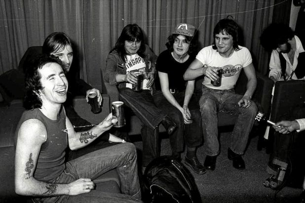 The band in 1976, home from an overseas tour.