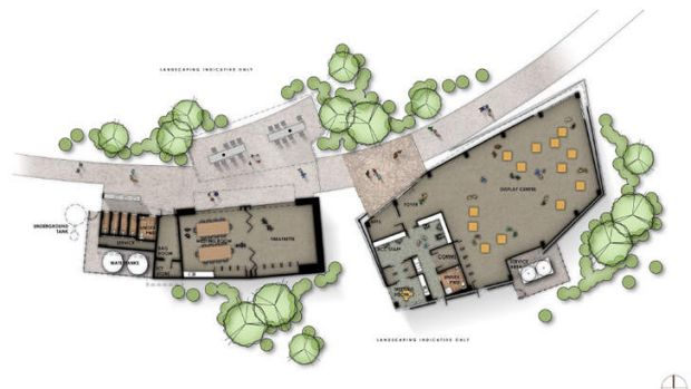 The proposed layout of the  Karawatha Forest Discovery Centre.