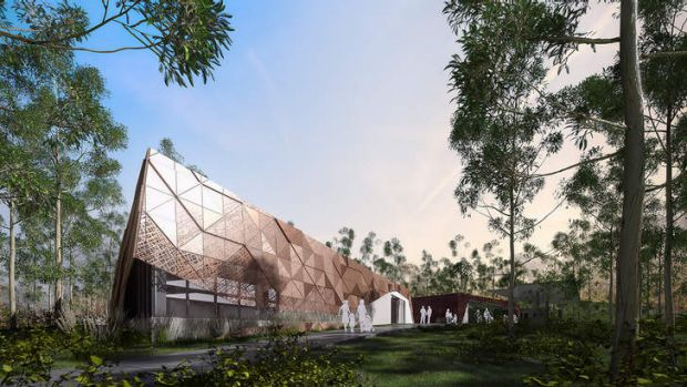 An artist impression of Brisbane's new $7 million Karawatha Forest Discovery Centre.