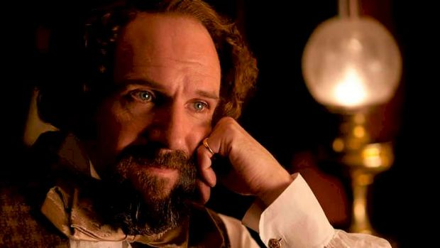 <i>The Invisible Woman </i>stars Ralph Fiennes as Charles Dickens and Felicity Jones as Nelly Ternan.
