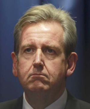 Barry O'Farrell after the ICAC hearing yesterday.