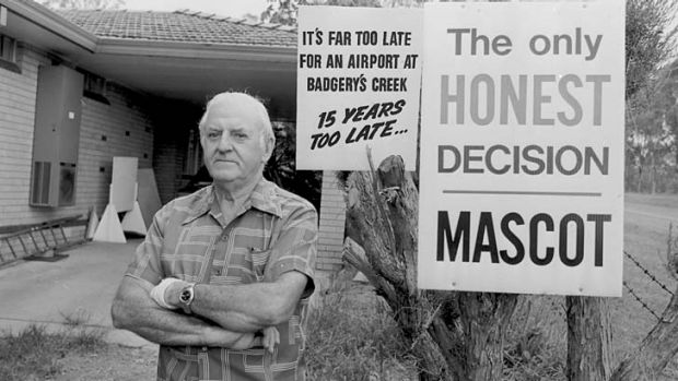 Adamant: Bob Green of the Badgerys Creek Anti Airport Group in 1986.