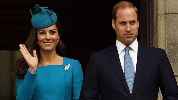 Royal enthusiasm: The Duke and Duchess of Cambridge, William and Kate.
