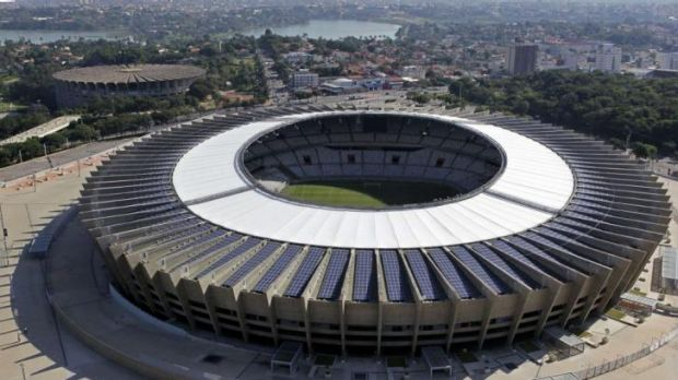 Estadio Mineirao, one of the stadiums hosting the 2014 World Cup soccer matches, in Belo Horizonte.