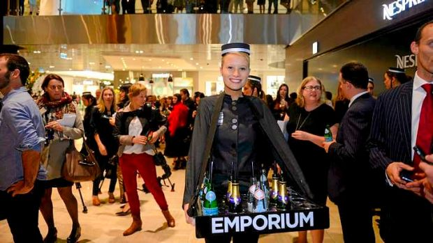 Opening day at Emporium Melbourne on Lonsdale Street.