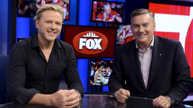 Hard-hitting: Dermott Brereton and Eddie McGuire add to the mix with <i>Ed and Derm's Big Week in Footy</i>.