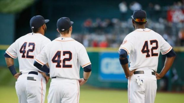 Every player wears Jackie Robinson's number to honour his legacy.