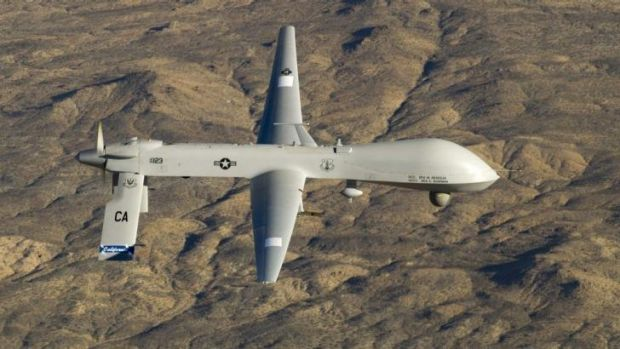 A US Air Force MQ-1 Predator unmanned aerial vehicle like the one used in the attack in Yemen.
