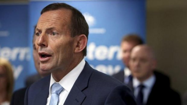 Prime Minster Tony Abbott at Liverpool Council in western Sydney announces roads funding to support a second airport at ...