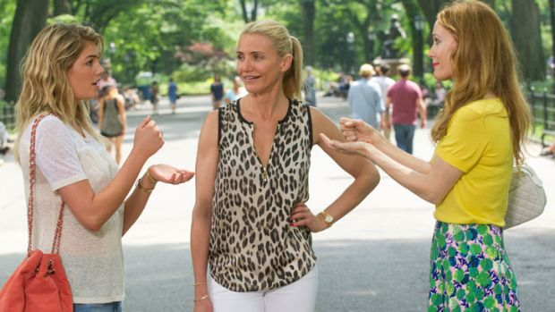 <i>The Other Woman</i> ... Cameron Diaz (centre) won't even touch the Dumb Blonde role (played by Kate Upton - left) anymore.