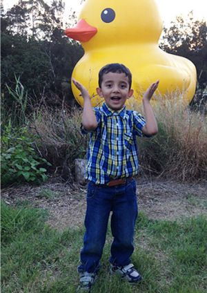 Audric, 4, was fatally hit by a car in Westmead.