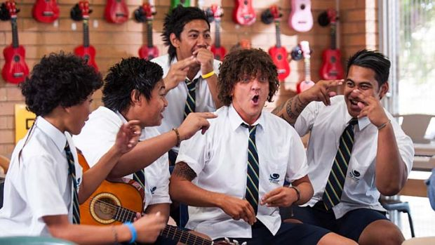 Bringing Jonah back: Chris Lilley's new ABC/BBC/HBO production reprises his role from <eM>Summer Heights High</em>.