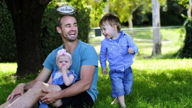 Former Raiders and Manly winger Michael Robertson has retired due to injury. He is back in Canberra, with children Kobe, ...
