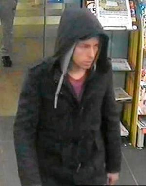 A CCTV image of a man police would like to speak to.
