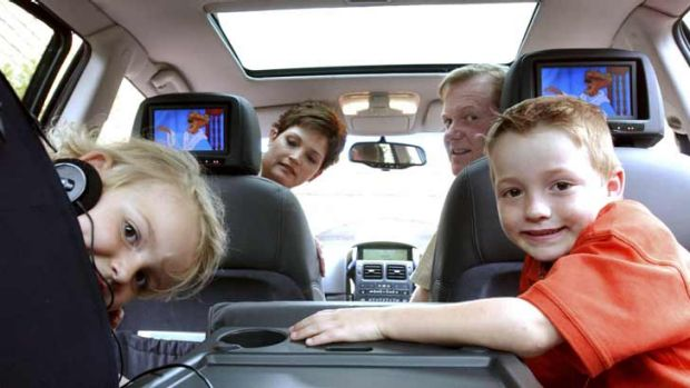 Keeping the kids happy on  a car journey is a challenge.