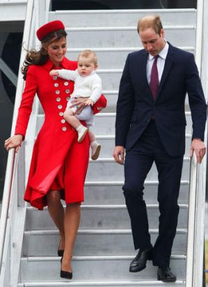 The Kate effect: The Duchess of Cambridge arrives in New Zealand.