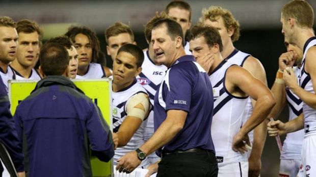 On the pace: Ross Lyon is making his players start training with intensity.