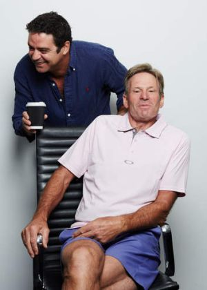 Footy mates... Garry Lyon (left) and Sam Newman.