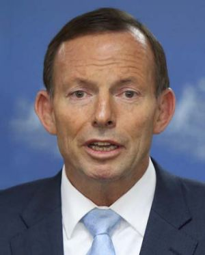 Not always on the same political page with O'Farrell: Prime Minister Tony Abbott.