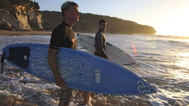 Manly is home: Mike Baird surfing at North Curl Curl.