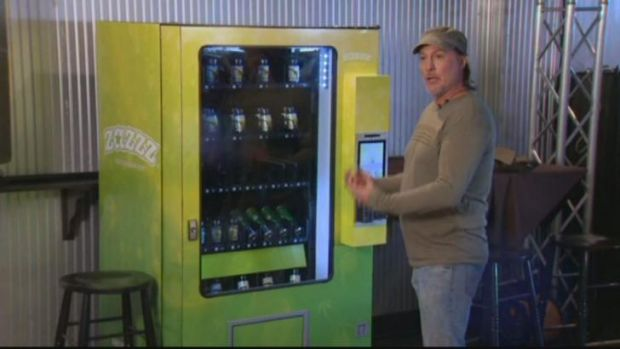 The Zazzz vending machine lets legally aged consumers buy marijuana products, including edibles and pre-rolled joints, ...