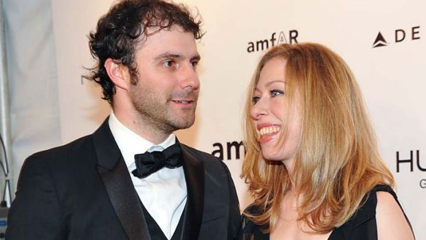 Expecting a baby: Chelsea Clinton and husband Marc Mezvinsky.