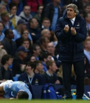 Lesson learnt: Manchester City manager Manuel Pellegrini reacts during the draw with Sunderland.