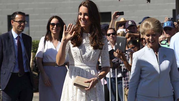 Catherine wore a  Zimmermann dress on Friday.