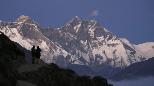 Forbidding peak: Mount Everest seen from Syangboche in Nepal.
