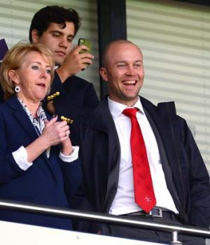 Jonathan Trott attends the EPL match between West Bromwich Albion and Tottenham Hotspur on April 12.