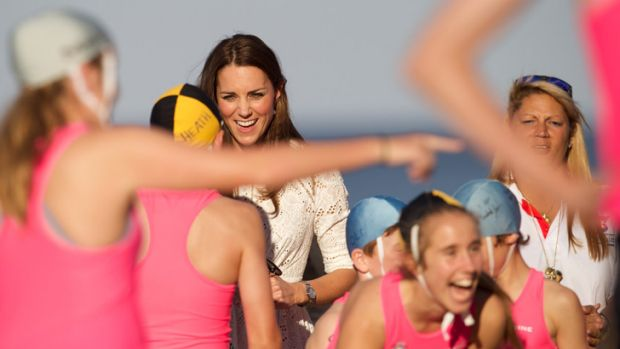 Manly nippers meet the Duchess of Cambridge.
